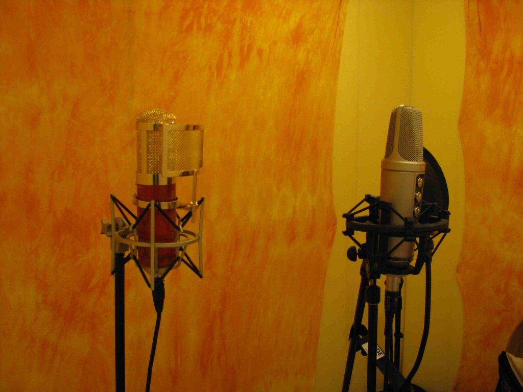 Nahrávací studio– mikrofony